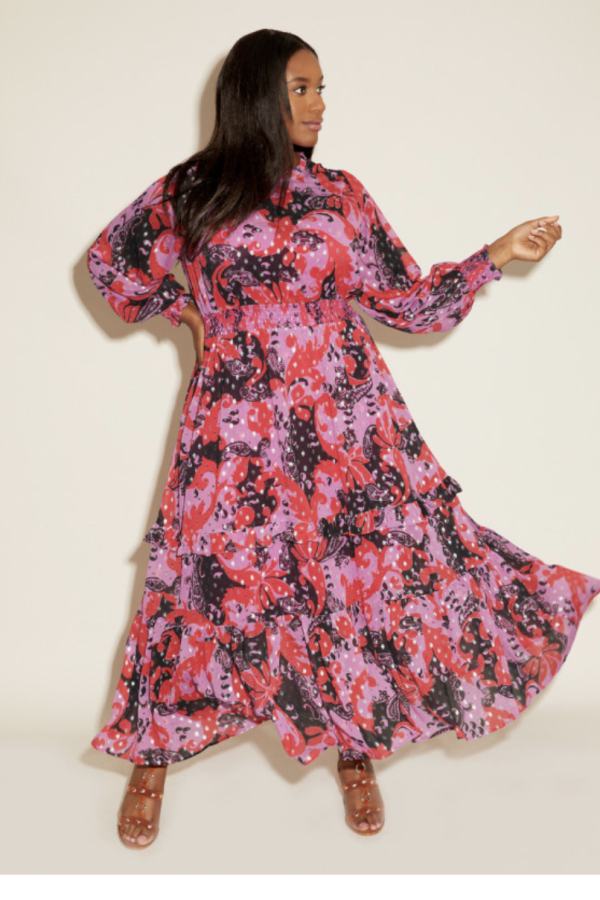 Anna Scholz Pink Polka Boho Dress 2