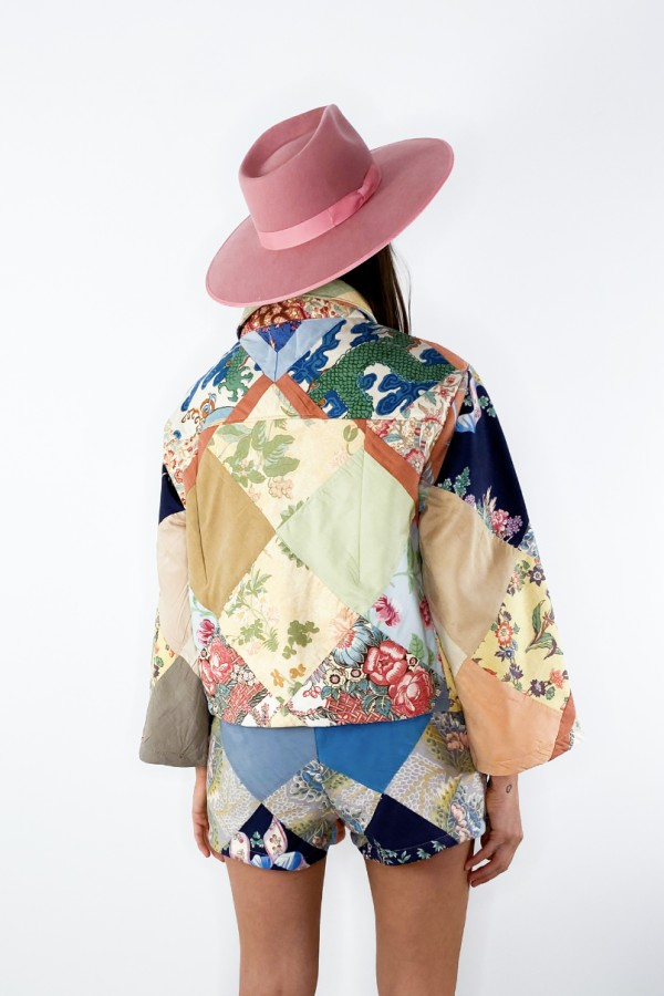 Image 4 of Magpie Vintage 1950s patchwork jacket