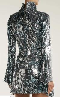 Halpern Metallic sequined mini dress Preview Images