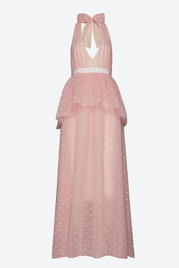 Huishan Zhang Pink tulle dress