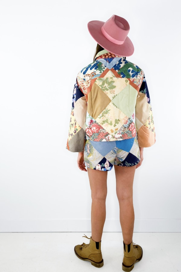 Image 5 of Magpie Vintage 1950s patchwork jacket