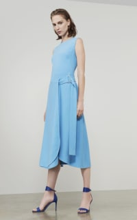Victoria Beckham Belted Midi Dress 5 Preview Images