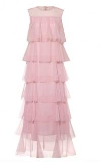 Lisou London Pink maxi ruffle dress Preview Images
