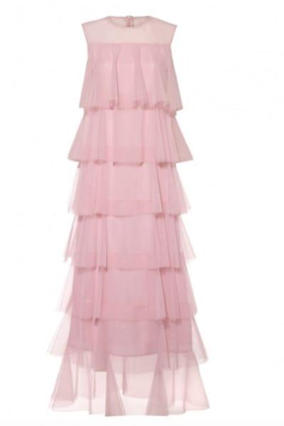 Lisou London Pink maxi ruffle dress