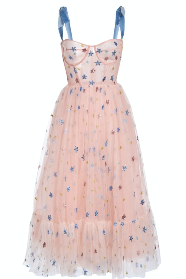Image 1 of Lirika Matoshi pink sky midi dress
