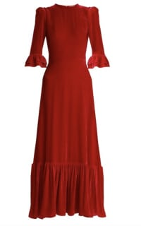 The Vampire's Wife Red velvet Maxi Dress Preview Images