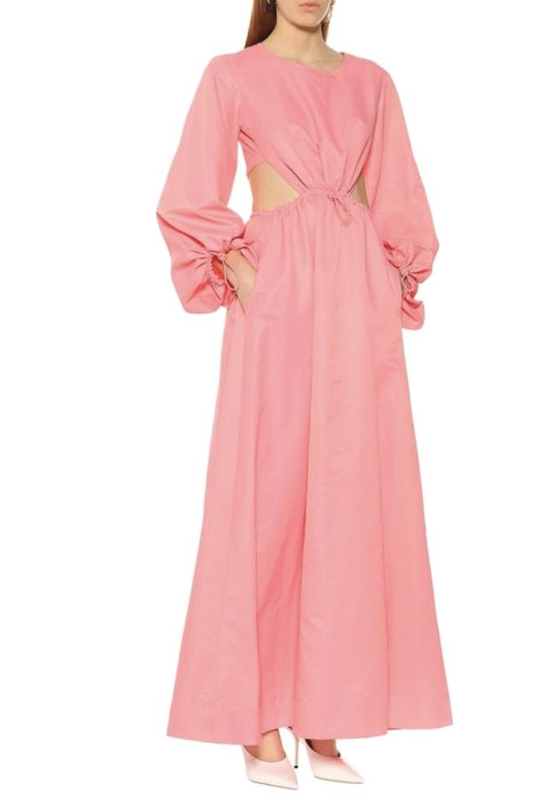 Image 2 of Staud ivy waist cutout maxi dress