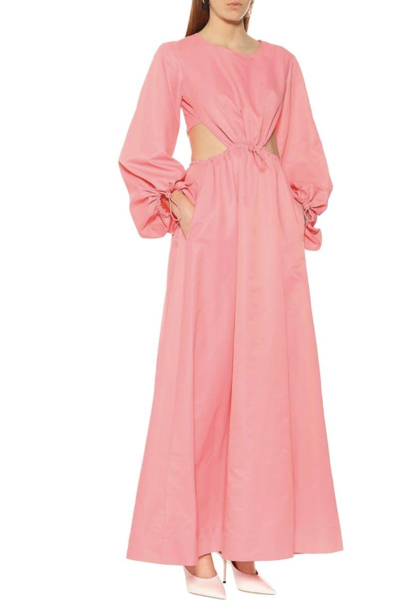Staud Ivy Waist Cutout Maxi Dress 2 Preview Images