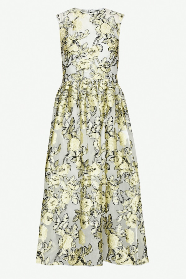 Image 1 of Cecilie Bahnsen yellow midi dress