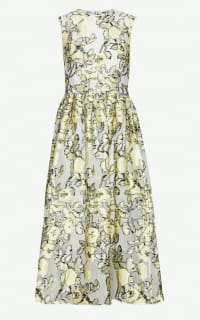 Cecilie Bahnsen Yellow Midi Dress Preview Images
