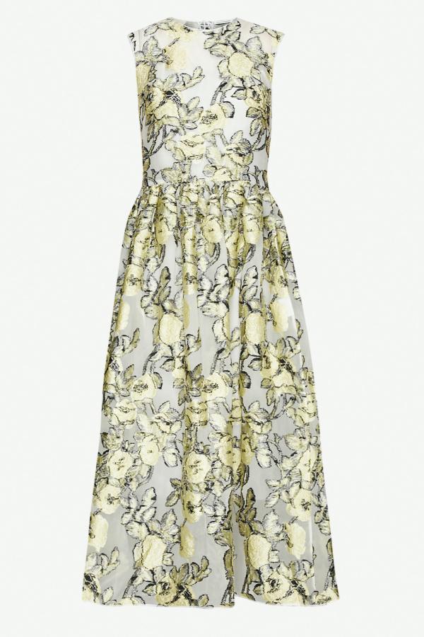 Cecilie Bahnsen Yellow Midi Dress
