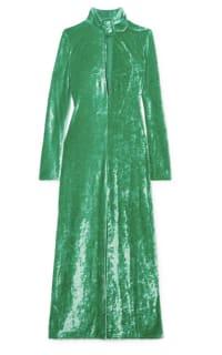 Attico Buckled cutout stretch-velvet dress Preview Images