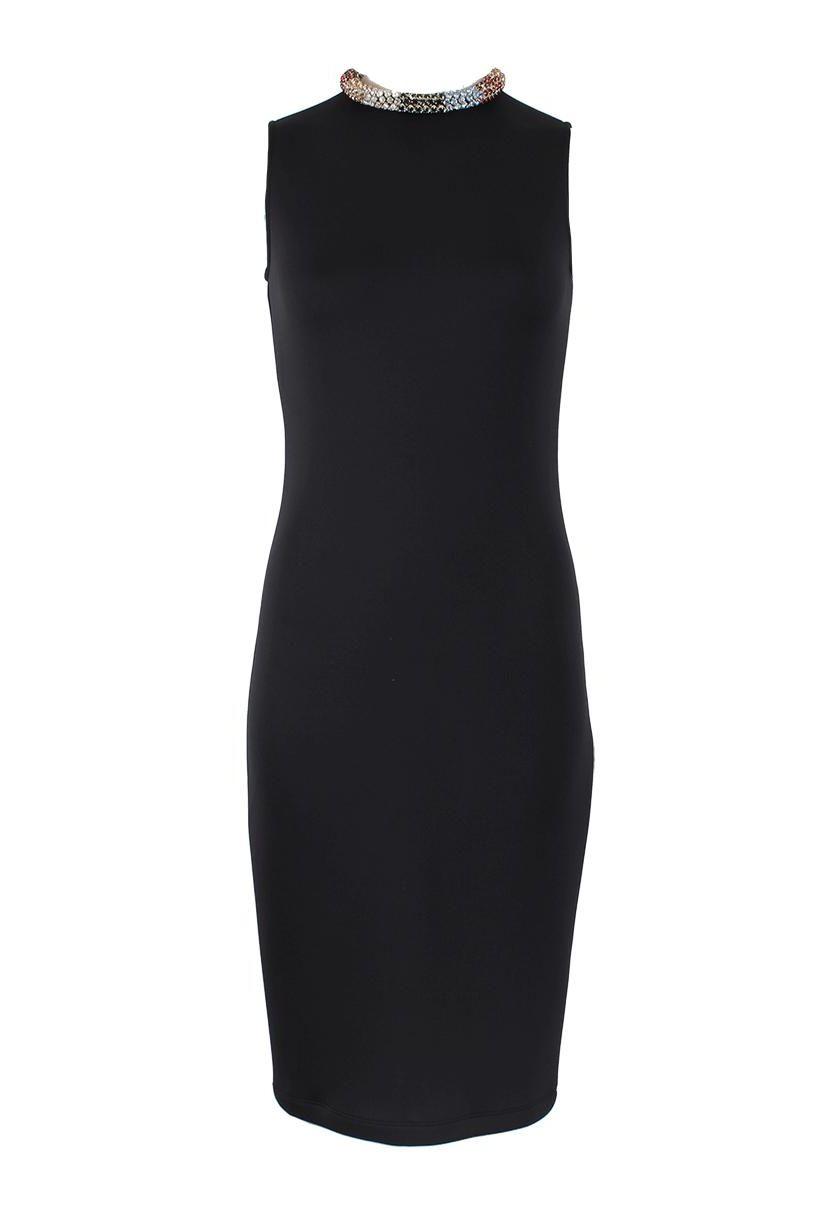 Alexander McQueen Black Sleeveless Beaded dress 5 Preview Images