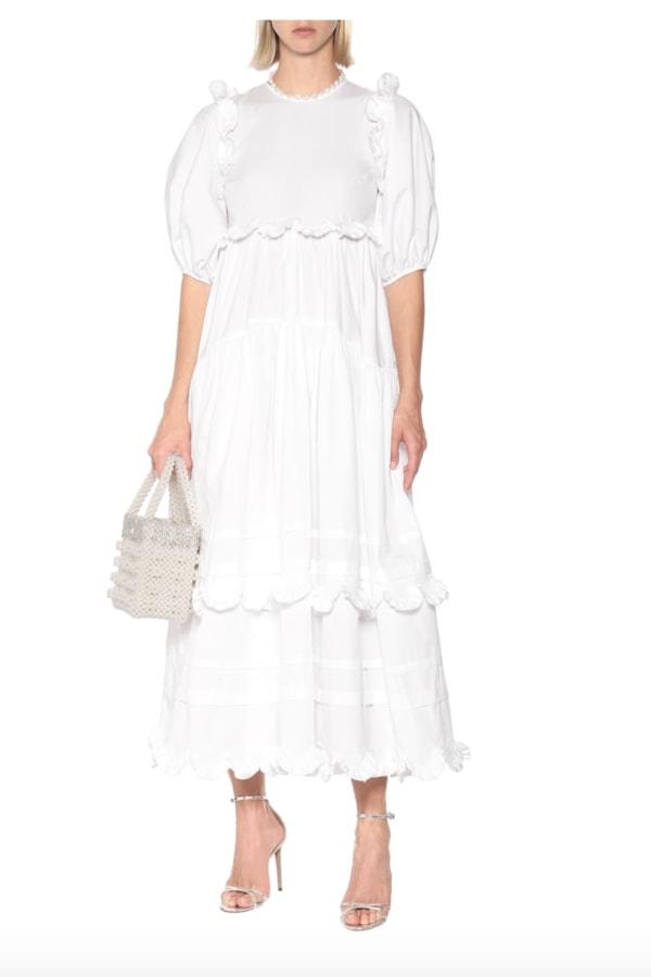 Cecilie Bahnsen Maren tiered-skirt cotton midi 2 Preview Images