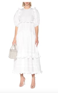 Cecilie Bahnsen Maren tiered-skirt cotton midi 4 Preview Images