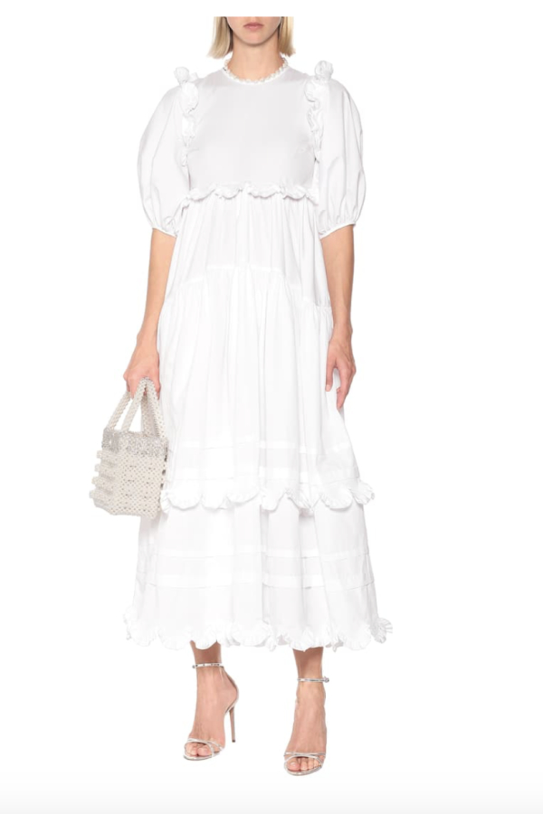 Cecilie Bahnsen Maren tiered-skirt cotton midi 4