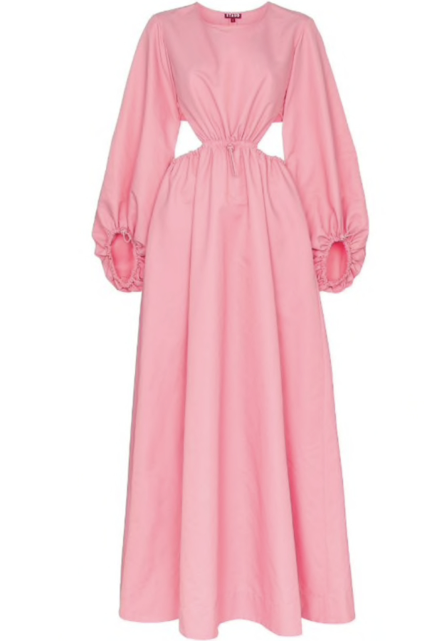 Staud Ivy Waist Cutout Maxi Dress