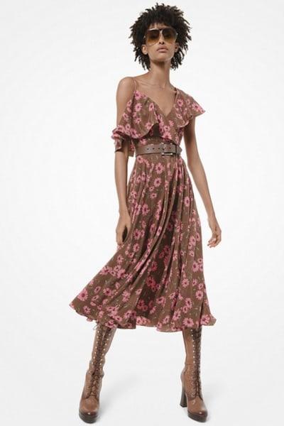 Michael Kors Floral midi dress 2