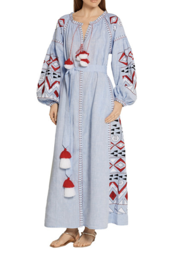 March11 Kilim embroidered maxi dress 2