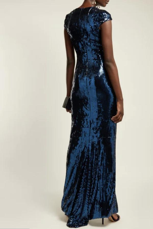 Galvan Hero sequinned gown 3