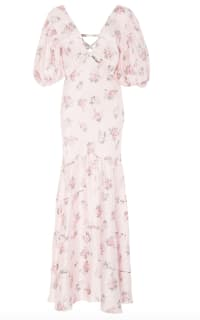 LoveShackFancy Lilia Cutout Floral-Print Silk Maxi  Preview Images