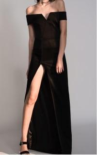 Galvan Satin Back Crepe Dress 2 Preview Images