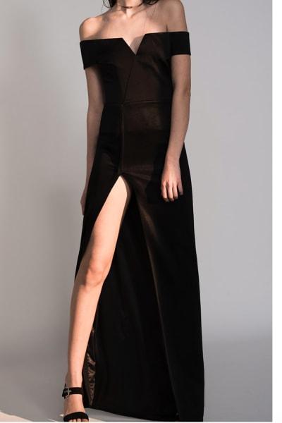 Galvan Satin Back Crepe Dress 2