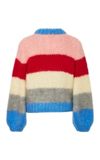 Ganni Julliard Striped Mohair jumper 3 Preview Images