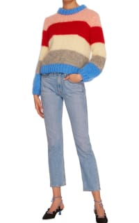 Ganni Julliard Striped Mohair jumper 2 Preview Images