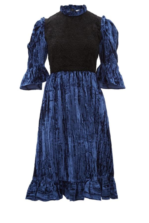 Image 1 of Batsheva two tone ruffle dress