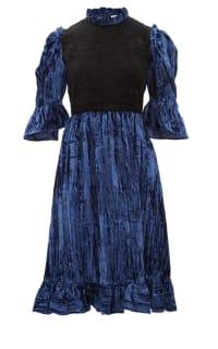 BATSHEVA - TWO TONE RUFFLE DRESS