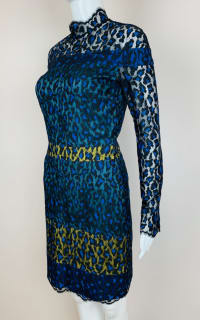 Matthew Williamson Leopard Lace Mini Dress 4 Preview Images