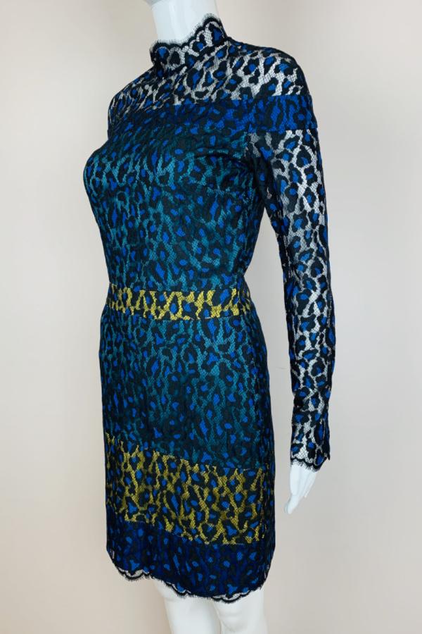 Matthew Williamson Leopard Lace Mini Dress 4