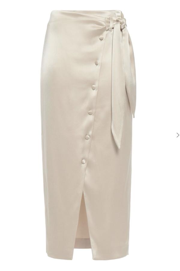 Nanushka Silk Midi Skirt