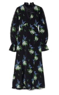 Les Rêveries Silk crepe midi dress Preview Images