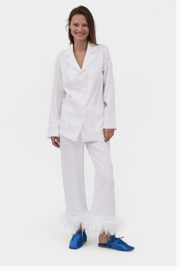 Sleeper White feathered pyjamas set  1 Preview Images