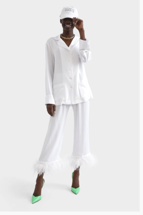 Sleeper White feathered pyjamas set  2 Preview Images