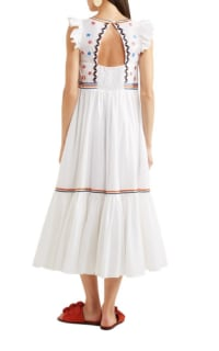 Temperley London Spellbound embroidered poplin and Swiss-dot cotton dress 3 Preview Images