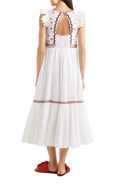 Temperley London Spellbound embroidered poplin and Swiss-dot cotton dress 3