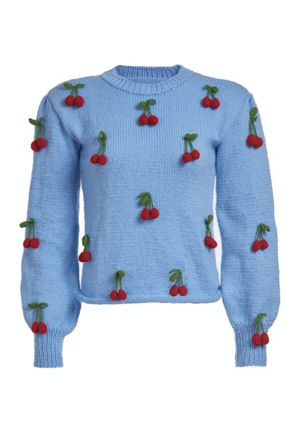 Image 1 of Lirika Matoshi cherries knit sweater