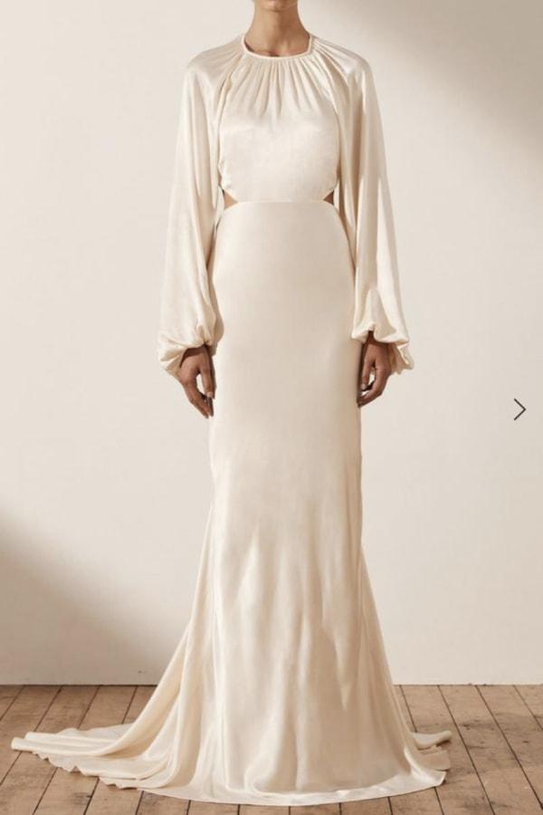 Image 2 of Shona Joy la lune balloon sleeve dress