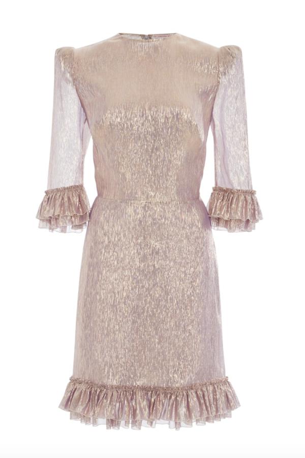 The Vampire's Wife Metallic Mini Dress
