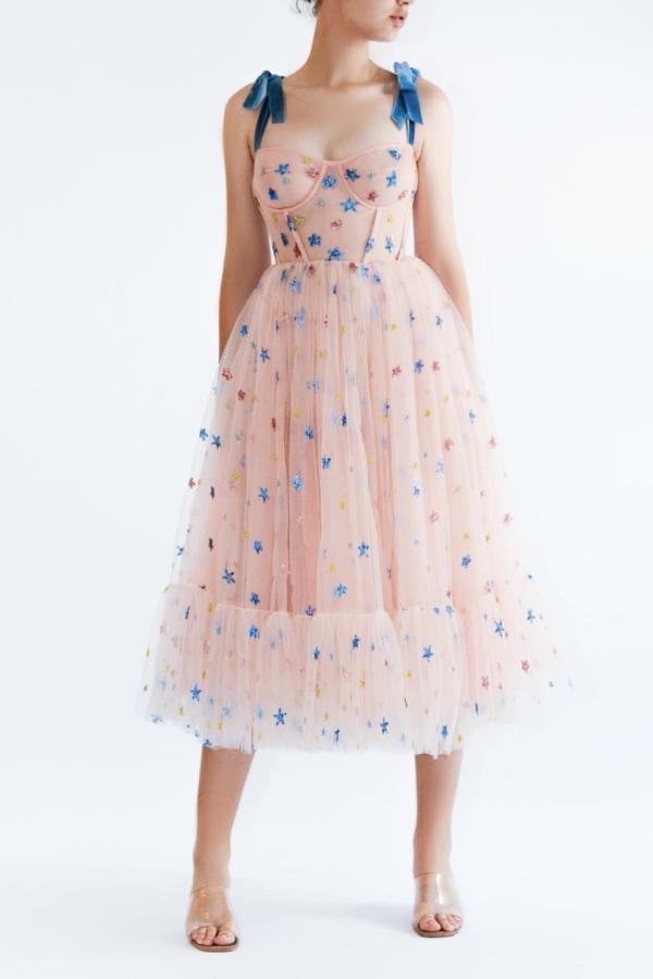 Image 2 of Lirika Matoshi pink sky midi dress