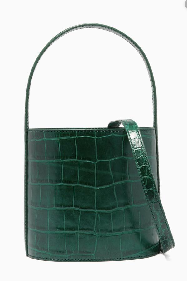 Staud Bissett croc-effect leather 3