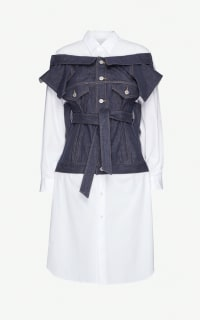 Junya Watanabe Deconstructed cotton dress Preview Images