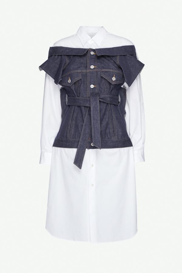 Junya Watanabe Deconstructed cotton dress