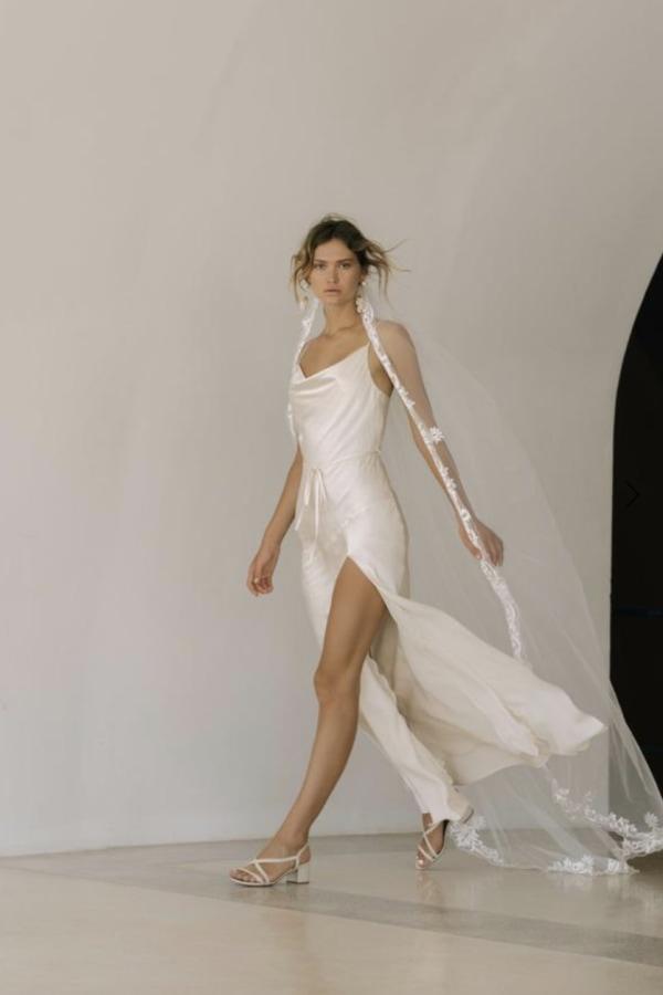Image 5 of Shona Joy la lune bias cowl dress