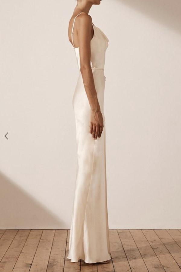 Image 3 of Shona Joy la lune bias cowl dress