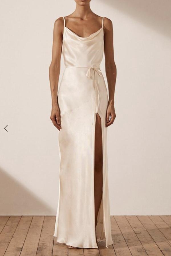 Image 2 of Shona Joy la lune bias cowl dress