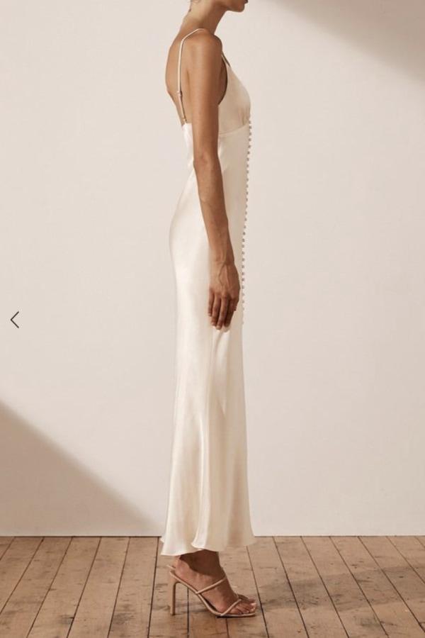 Image 3 of Shona Joy la lune bias slip dress